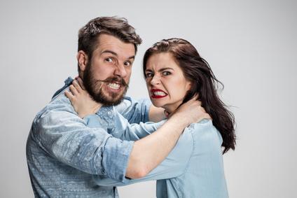 The quarrel men and women.