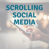 scrolling social media